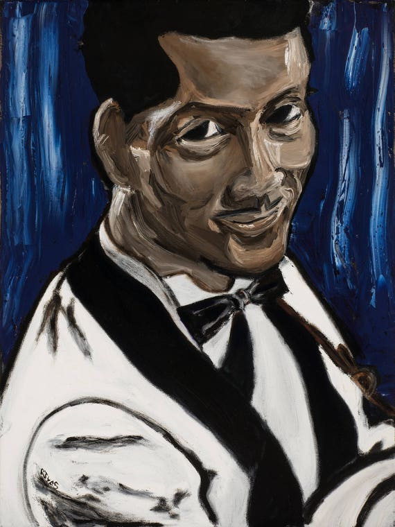 Chuck Berry--9x12 Hand-Numbered Print