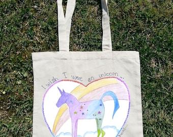 I Wish I Were An Unicorn So I Can Stab Idiots With My Head, Unicorn Bag, Unicorn Tote Bag, Unicorn Clothing, Unicornio, I Love Unicorns