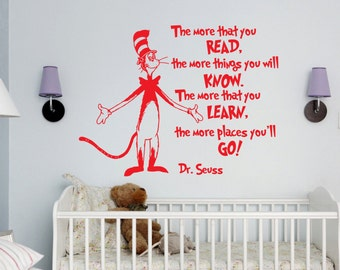 Dr Seuss Wall Decor dr seuss wall decal | etsy