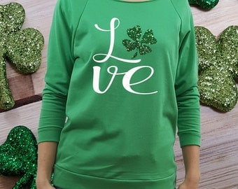 St Patricks Day shirt, women st patricks, clover shirt, st patricks shirt, green shirt, st paddys shirt, women st paddys, shamrock shirt