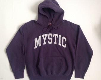 Vintage MYSTIC plum purple hoodie