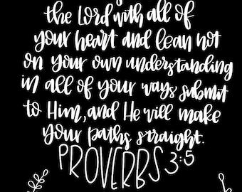 Proverbs 3:5 Digital Scripture