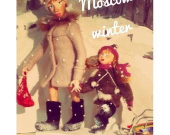 Art dolls  Moscow winter