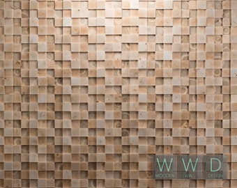 Wood Wall  Panel  Tiles Antique Wood Cladding Brushed [Status Quo]