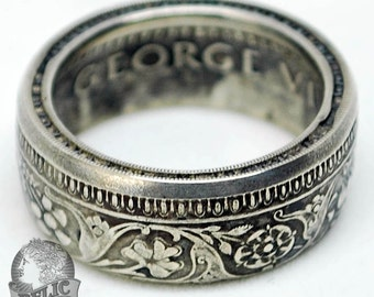 British-India Silver Rupee Coin Ring