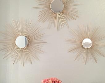 """Trio 30"""" Sunburst Mirrors"""