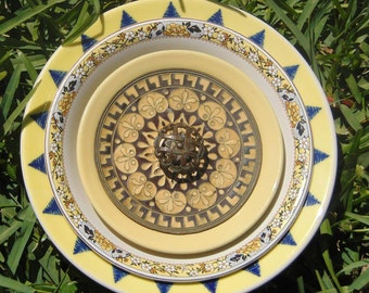 Glass Plate Flower- The Tuscan Sun
