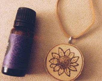 Sunflower Essential Oil Defuser Necklace