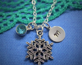 Snowflake Necklace - Personalized - Winter Necklace - Snow Necklace - Holiday Necklace - Christmas Necklace - Snow Charm