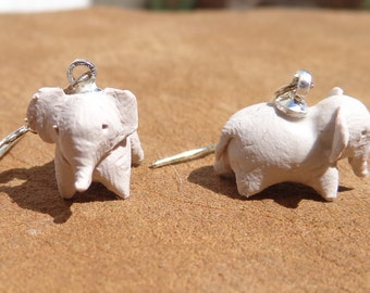 miniature earrings elephant