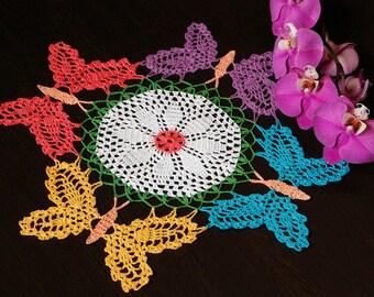 Crochet Doily Butterflies Home Decor Room Decor Table Decor Lace Doily Knit Doily Crochet Butterfy Table Topper Table Decoration Knit Decor