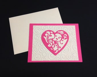 No Words Necessary, Valentine Card, Sweet Valentine Card For Him, Valentine Gift, Valentine For Her, Simply Stated Valentine, Simple Card