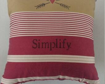 10x10 Simplify Pillow