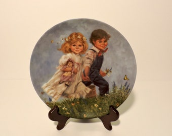 "John McClelland Collector's Plate ""Jack & Jill""- Mother Goose Series"