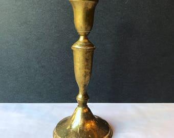 Classical Brass Candlestick - Vintage Brass Candle Stick Holder / Vintage Brass / Bookshelf Brass / Wedding Decor