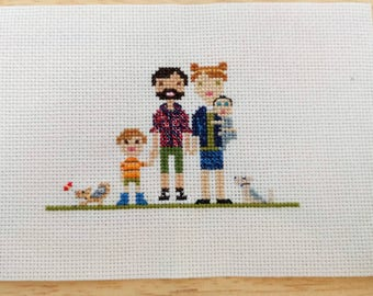 Personalised Cross Stitch Portraits