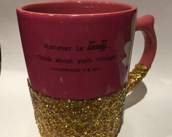 Glitter and Scripture Coffee Mug