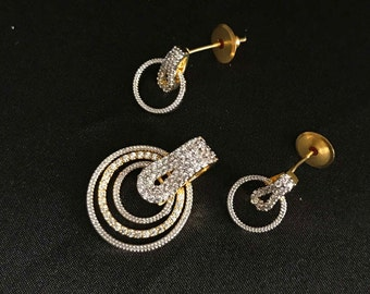 Indian Jewelry - Indian Pendant Set - Indian Earrings - Bollywood Jewelry - Bollywood Earrings - South Indian Jewelry - Desi Jewelry -