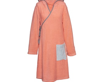 -Terry cloth dress coral