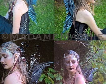 Bespoke, leather Faery wings 'Midnight'
