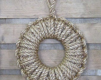 Rope Boat Side Fender / Bumper - Nautical Disk Shape