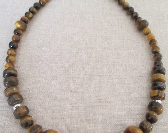 Beautiful handmade necklace Tiger eye.