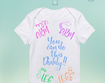 You got this daddy / Baby Onesie / Daddy Onesie / Daddy can do it Onesie / Cute baby onesie / onesie vinyl / Daddy SVG / Daddy DXF