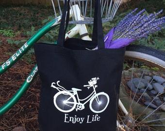 Enjoy Life Bike Tote Bag