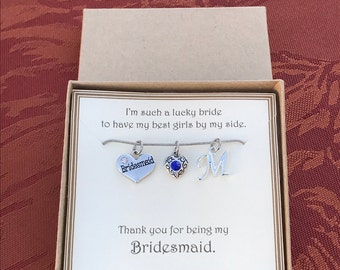 Thank you for being my Bridesmaid Necklace - C247 - Personalized Bridesmaid Necklace - Personalized Bridesmaid Jewelry - Bridesmaid Gift