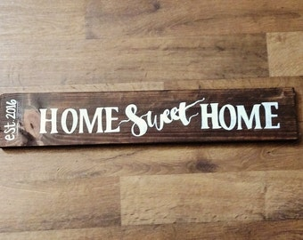 Home Sweet Home, Wood signs, wall decor, rustic signs, rustic decor, handmade signs, handpainted signs, CRrusticdesignsShop