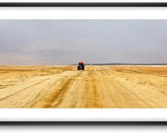 "Framed panoramic photography   . ""Southerner lost in the highland"" .Bolivia."