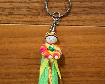 Hill Tribe Doll Key Chain 5
