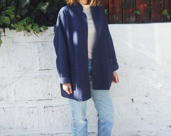 Vintage Quilted Indigo Jacket