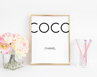 Coco Chanel Quotes Fashion Wall Art Printable Art Coco Chanel Print Fashion Decor Women Gift Girls Room Decor Coco Chanel Wall Art Quotes