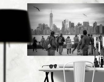 New York skyline canvas art, New York City, Manhattan wall decor, NYC photography, wall hangings
