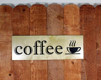 Coffee Shop Sign Modern Home Decor Kitchen Decor Coffee Sign Coffee Shop