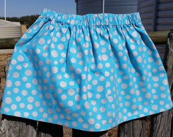 Blue Silver Spotted Skirt