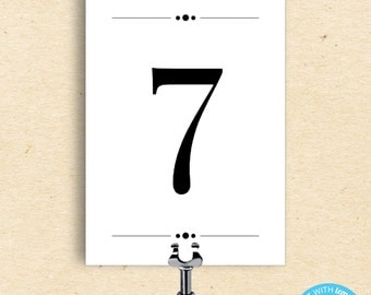 Table Number Template - Table Number Card - Printable Table Number Template - Instant Download - DIY Printable- 5x7 Template