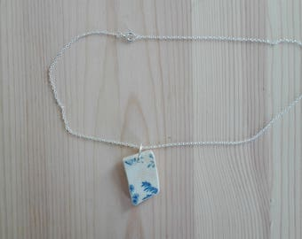 Necklace 3 blue ceramics