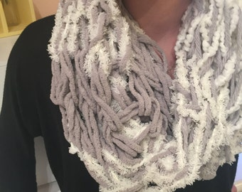Multi-texture Knitted Scarf