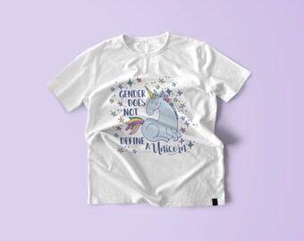Funny Unicorn Tee | Graphic Tee for Women | No Gender Shirt | Unicorn T-Shirt | Funny Graphic T-Shirt | LGBTQ Friendly Fashion | LGBTQ Tee