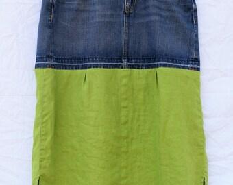 Modest jean skirt | Etsy