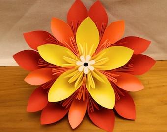 Layered Kususdama origami flower piece