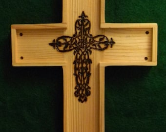 Wooden Cross, Wall Hanging, Handcrafted, Unique