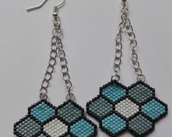 Earrings miyuki beads - flowers