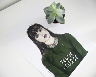 Sapling - Art drawing portrait print illustration