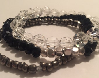 Crystal Beaded Trio Set