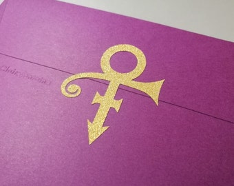 20 Glitter Prince Stickers - Prince Symbol Envelope Seals - Prince Wall Stickers - Wall Decals - Prince Theme Party Decor - Glitter Stickers