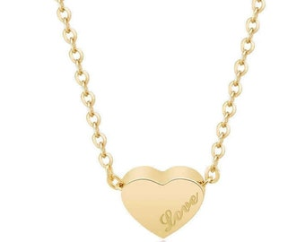 Delicate gold gone heart charm necklace