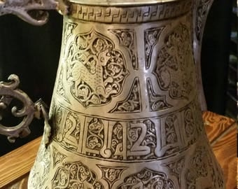 Antique, hand etched Turkish coffee urn 100% Silver free shipping mywestelm Bohemian Heirloom vintage UOhome interiorinspiration   gratitude